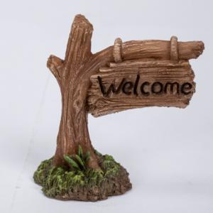 tree trunk sign