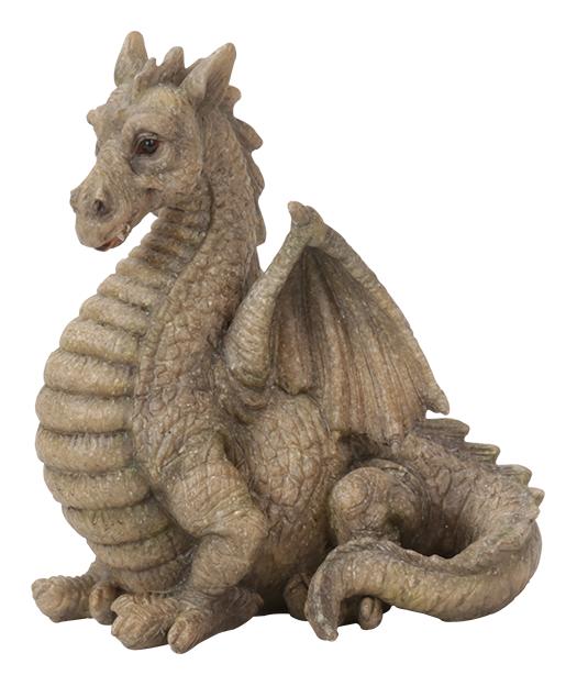 MW04-017 Miniature World Grey Fan Tail Dragon Vivid Arts
