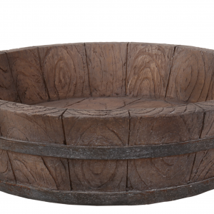 MW07-001 Wooden Barrel Planter